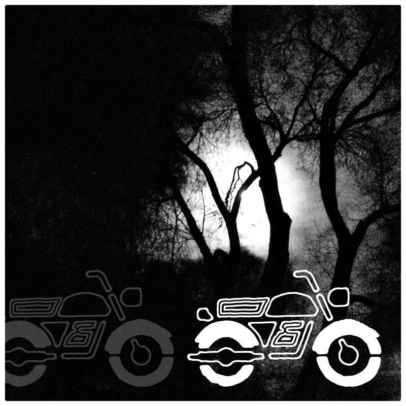 Moon & Motorcycle, by virtualDavis